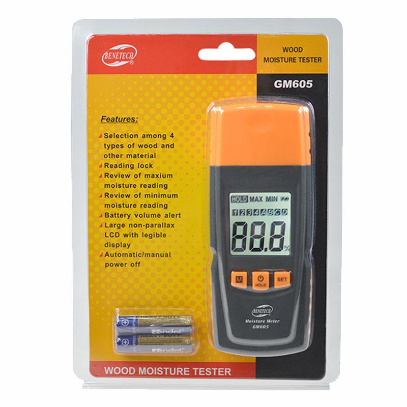 เครื่องวัดความชื้นไม้ BeneTech GM605