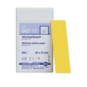Nitrazine yellow paper