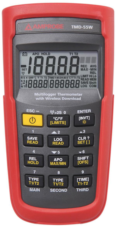 เครื่องวัดอุณหภูมิและความชื้น Amprobe TMD-55W
