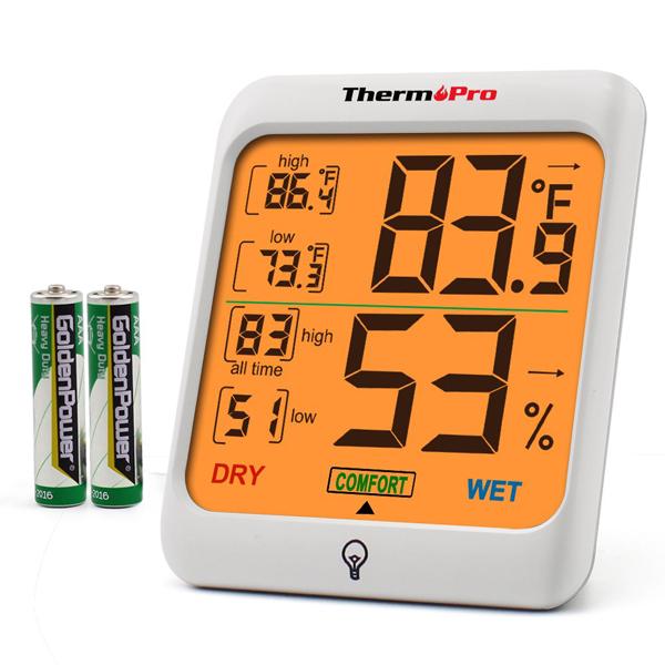 เครื่องวัดอุณหภูมิและความชื้น ThermoPro TP53