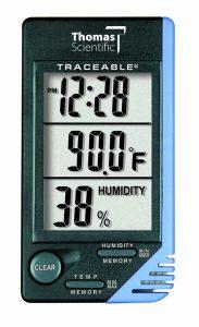 เครื่องวัดอุณหภูมิและความชื้น Thomas Traceable Thermometer Clock