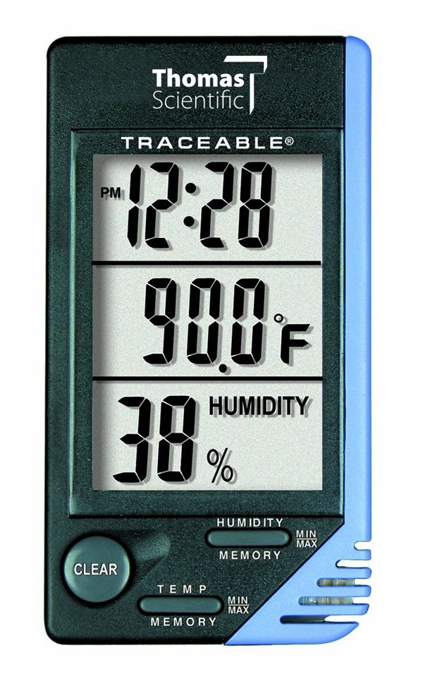Data Logger Thomas Traceable Thermometer Clock
