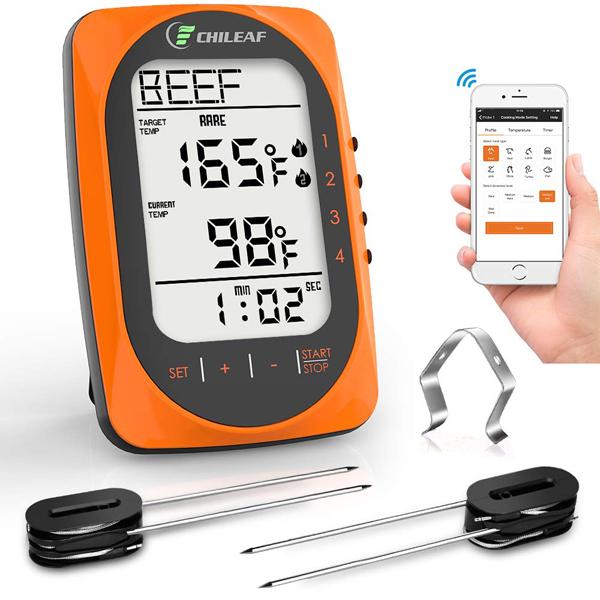 เครื่องวัดอุณหภูมิ CHILEAF Wireless BBQ Thermometer